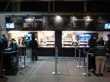 Concessions on the concourse