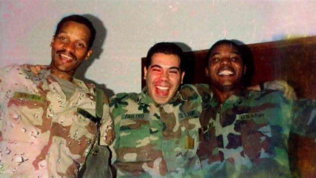 Alexis' dad (R) with Army friends