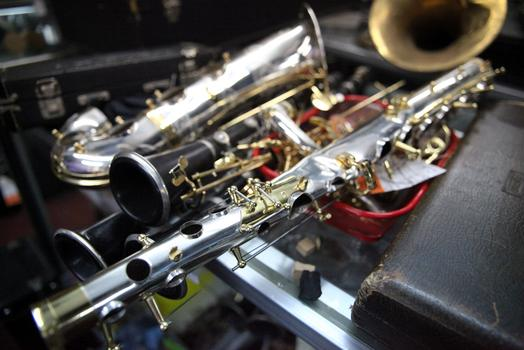 Baltimore is repairing a sax that was run over by a car.
