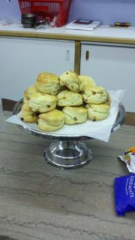 Fresh-baked scones