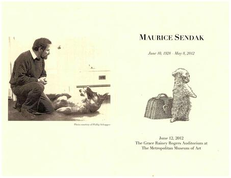 Program from Maurice Sendak's memorial service.