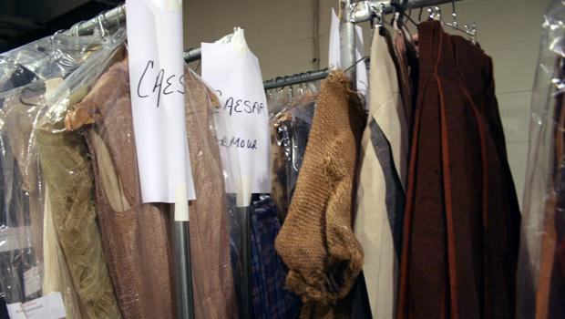 There are approximately 425 costumes, 20 wigs and two joke beards included in the wardrobe for the plays.