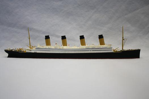 This model ship of the Titanic, which was made by Mercator, will also be on view at the South Street Seaport Museum.