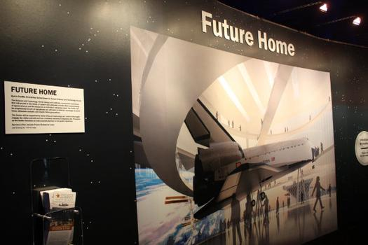 A rendering of the Enterprise's future home is also on display.