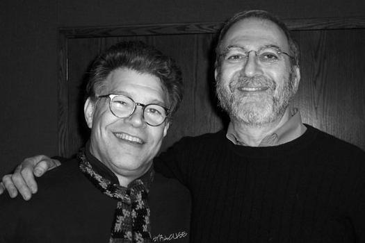 Leonard with political satirist Al Franken, 2005.