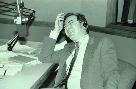Leonard in the Senior Edition studio, ca. 1984.