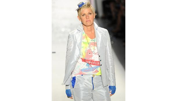 Ellen Degeneres walks the runway at the Richie Rich Spring 2011 fashion show during Mercedes-Benz Fashion Week at The Studio at Lincoln Center on September 9, 2010 in New York City.