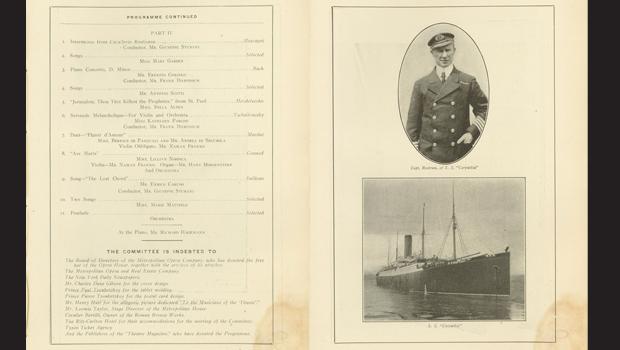 Capt. Rostrum and the S.S. Carpathia.