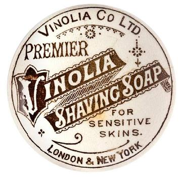 This piece at Bonham's is a wrapper for the shaving soap supplied in the passenger cabins on White Star Line ships.
