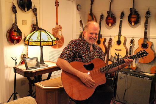 Stan Jay, owner of Mandolin Brothers.