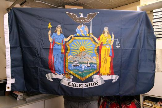 The New York State Flag.