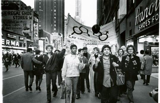 Gay Liberation Front on Times Square, 1969. Diana Davies, NYPL