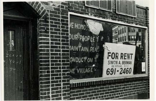 Stonewall Inn, 1969, Diana Davies, NYPL