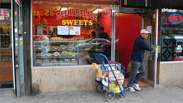 The Delhi Palace is a small sweets shop on 74th St. between 37th Ave. and 37th Rd.