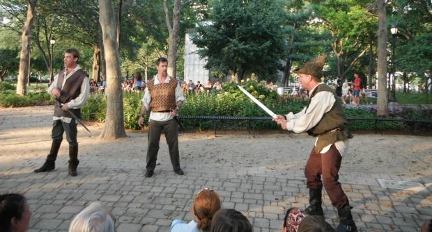 A little swordplay gets big laughs. 50 percent of audience members have been to productions by New York Classical Theater before, according to director Stephen Burdman.