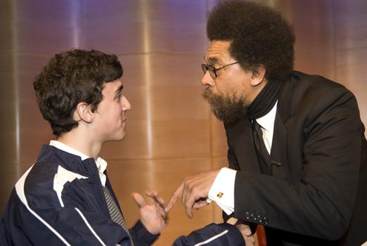 Dr. Cornel West after the show