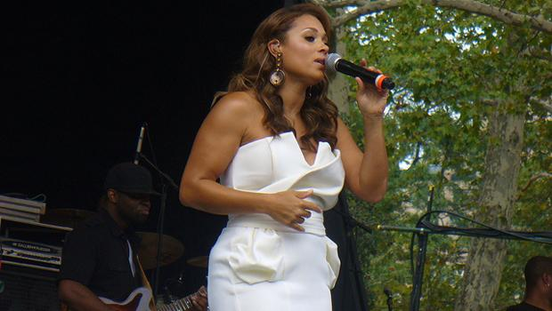 Tamia performs at Summerstage in Central Park on August 21.