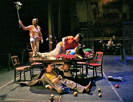 "A scene from ""The Dinner Party,"" which was produced by Target Margin Theater in 2007."