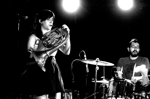 The Loom plays the french horn on July 14th at Mercury Lounge.