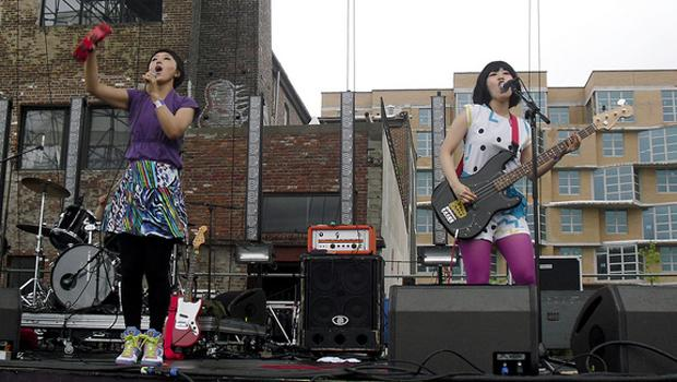The Suzan perform at the Jelly Pool Party along the Williamsburg Waterfront on August 22.