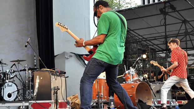 The Gories kept it pretty clean at the Lincoln Center Out of Doors Festival on July 31.