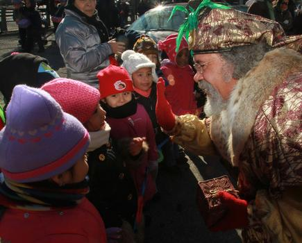 Each year, hundreds of children march in the Three Kings Day Parade.