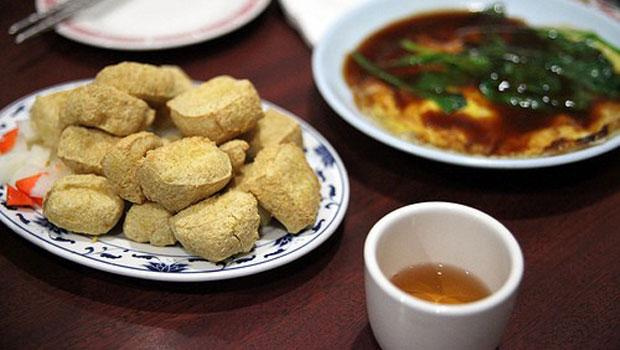 Stinky Tofu at Ku-Shiang, a Taiwanese restaurant in Flushing.