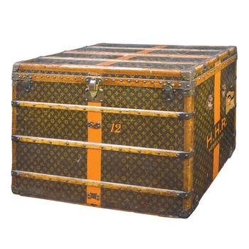 A Louis trunk painted and monogrammed HHR Honolulu sold for $8,125. Another LV trunk sold for $20,000.
