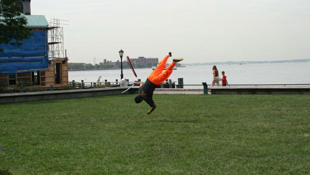 Another impressive shot of the Chinese Shaolin martial artists performing as part of the dragon boat awakening ceremony.