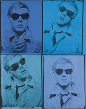 "Another Warhol ""Self-Portrait"" signed by the artist in 1964. This one is expected to sell at Christie's for up to $30 million."
