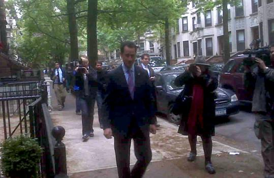 Press follows Weiner as he takes a long walk down the leafy lane.