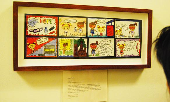 A comic strip piece in the show.