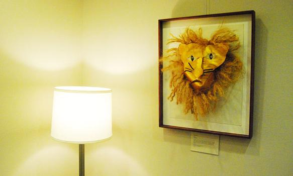 Some of the pieces are more three-dimensional than others, like this one depicting a lion.