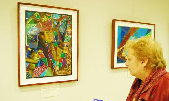 Students get to take home their framed works at the end of the year-long show.