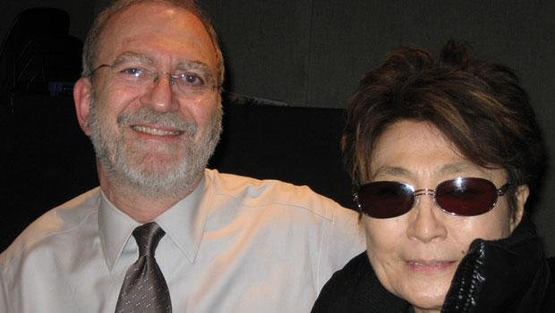 Yoko Ono looking dramatic with Leonard Lopate (2008)