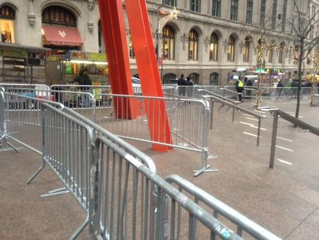 Barricades had surrounded Zuccotti Park since November.