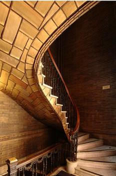 Vaulted stair at St. Paul's Chapel, Columbia University.