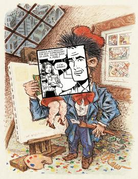 Art Spiegelman, cover art for Print magazine, May/June 1981, watercolor, ink, and collage on paper.