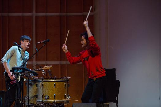 Lesley Flanigan and People Get Ready perform at the Ecstatic Music Festival on February 19th, 2014