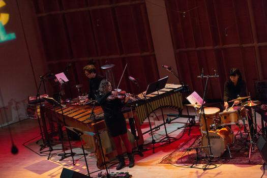 Mirah and Susie Ibarra perform March 1 at the 2014 Ecstatic Music Festival