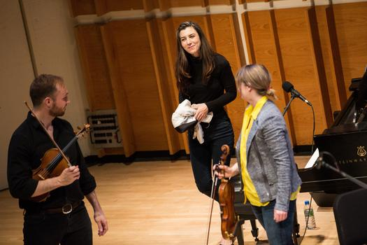 Julia Holter and Spektral Quartet at Merkin Concert Hall February 25, 2015