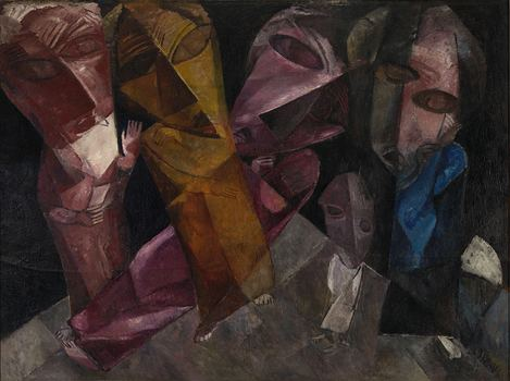 Lasar Segall (1891-1957). Eternal Wanderers, 1919. Oil on canvas, 54 3/8 x 72 ½ in. (138 x 184 cm). Lasar Segall Museum, IBRAM/Ministry of Culture