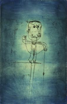 Paul Klee (1879-1940). The Angler, 1921. Watercolor, transfer drawing and ink on paper, 18 7/8 x 12 3/8 in. (50.5 x 31.8 cm). The Museum of Modern Art, New York. John S. Newberry Collection
