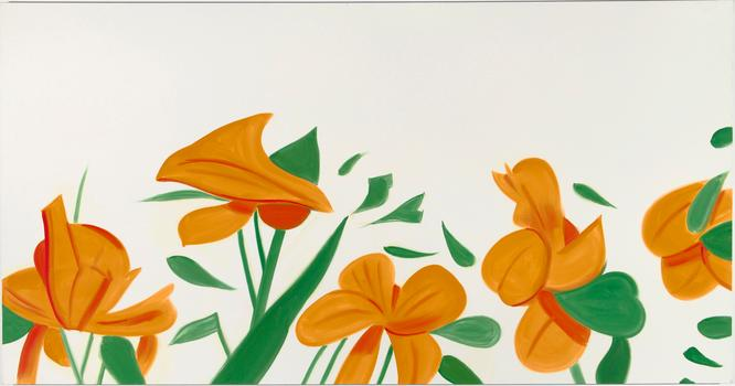 Alex Katz, Flowers, Oil on linen (2011)