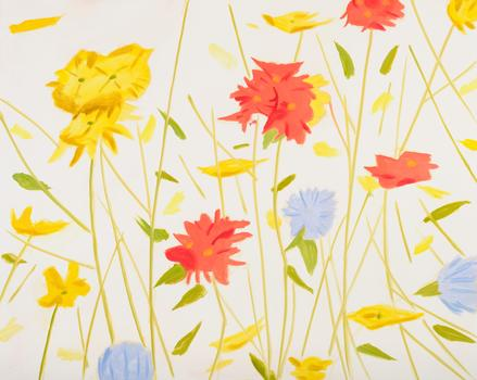 Alex Katz, Wildflowers 1, Oil on linen (2010)
