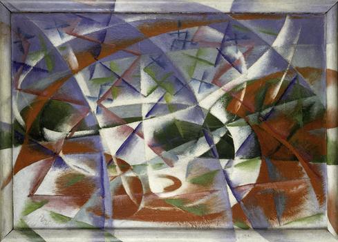 Giacomo Balla <em>Abstract Speed + Sound (Velocità astratta + rumore),</em> 1913–14