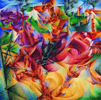"Umberto Boccioni's ""Elasticity,"" painted in 1912. Oil on canvas."