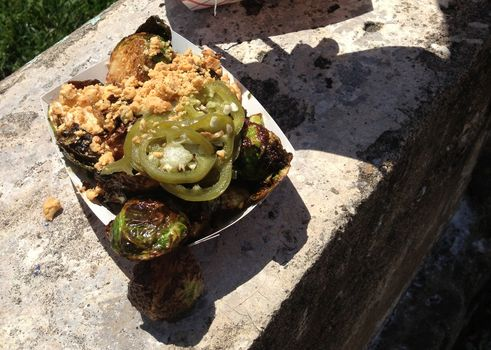 Brussels sprouts from Tso Fried Chicken at Smorgasburg