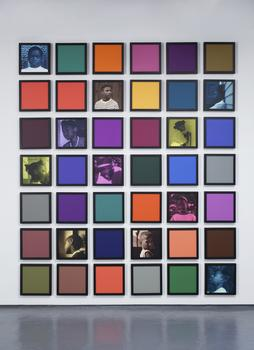 "Weems' show includes pieces like ""Untitled (Colored People Grid),"" which she worked on from 2009-2010."