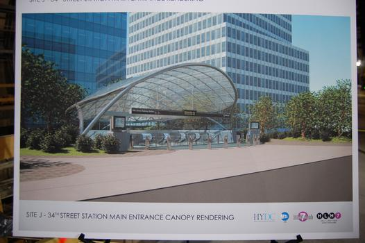 Rendering of what the station entrance will look like when complete